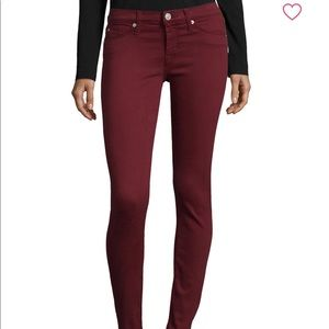 Hudson Maroon Skinny Jeans